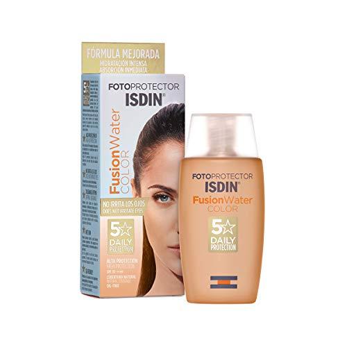 ISDIN Fusion Water Color LSF 50 | Getönte tägliche Sonnencreme für das Gesicht | Ultraleichte Textur, 50 ml