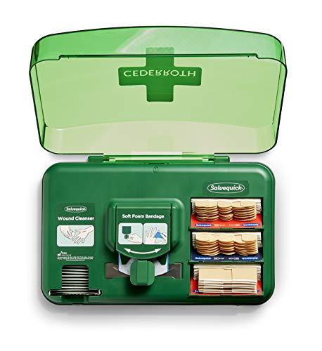 Cederroth ® | Wound Care Dispenser | Praktisk dispenser med olika typer av plåster och sårtvätt för att hantera mindre sår | Kan monteras på vägg