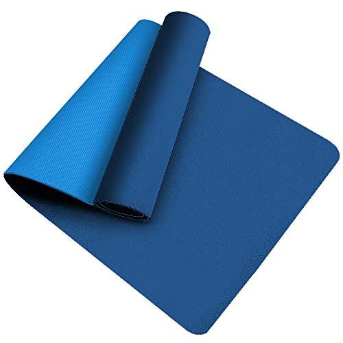 wehers Esterilla de yoga, respetuosa con el medio ambiente, de elastómero termoplástico, antideslizante, para yoga, pilates, gimnasia, 181 x 61 x 0,6 cm