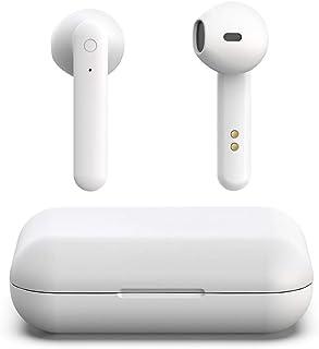 【2019 最新版 最強 軽量 イヤホン ワイヤレス】Bluetooth イヤホン Hi-Fi 音楽 高音質 スマホ イヤホン 低高音 AAC対応 ブルートゥース イヤホン 遮音 完全 左右分離型 自動 ペアリング 音量調節 技適認証済/Siri対応 / IPX7防水規格 / iPhone & Android対応(ホワイト)