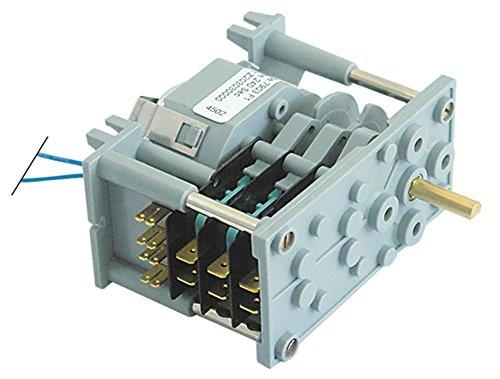 CDC 7903F - Temporizador para lavavajillas Fagor FI-64B, FI-64W, FI-64, FI-80W, FI-30 eje Ø 6x4,6 x 13 mm, 3 cámaras, tiempo de funcionamiento 4 min 1 230 V