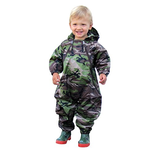 Tuffo Toddler Boys' Muddy Buddy Coveralls, Camouflage, 4T