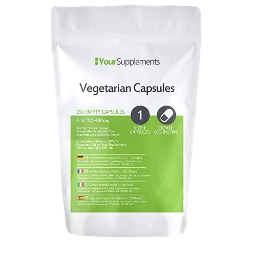 Lege vegetarische capsules | Maat 1 (250)