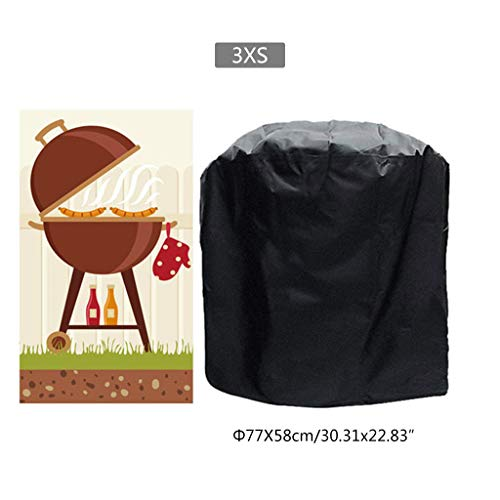 niumanery BBQ Cover Outdoor Dust Waterproof Weber Heavy Duty Grill Cover Rain Protective 2#