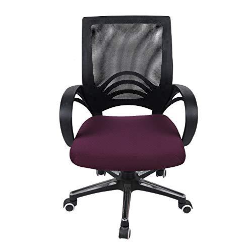 PCSACDF Einfarbig Küche Büro Stretch Stuhlabdeckung Feste Sitzschoner Elastische Sitzbezug...