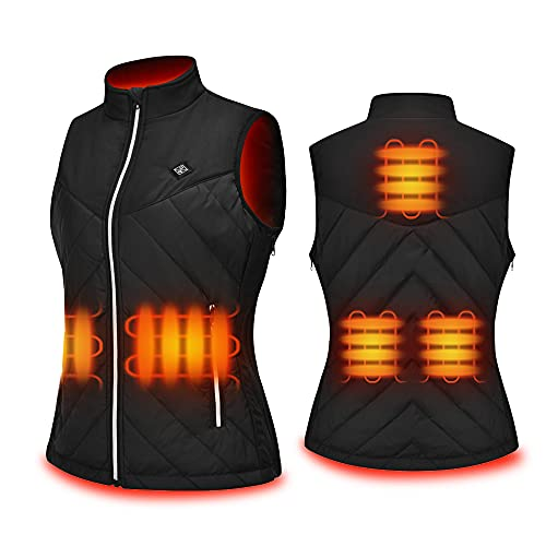 KONCL Women's Heated Vest,USB Rechargeable Heating Vest with Battery...