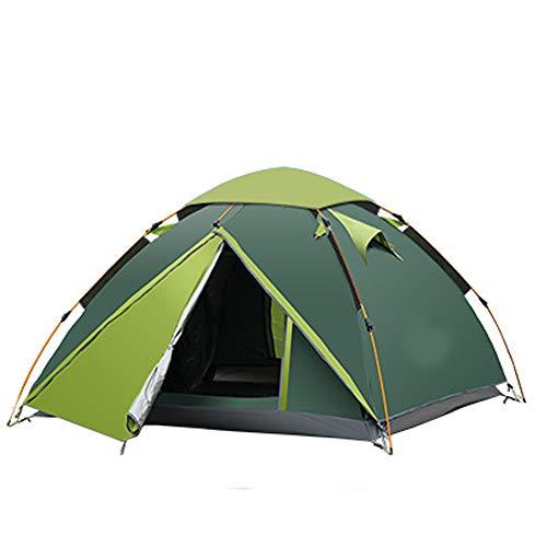 PLEASUR Lichtgewicht camping-backpacking-tent 2-3 personen, winddichte luifel-familietent twee deuren dubbellaags aluminium stangen voor outdoor kamperen, familie strandjacht wandelen, groen