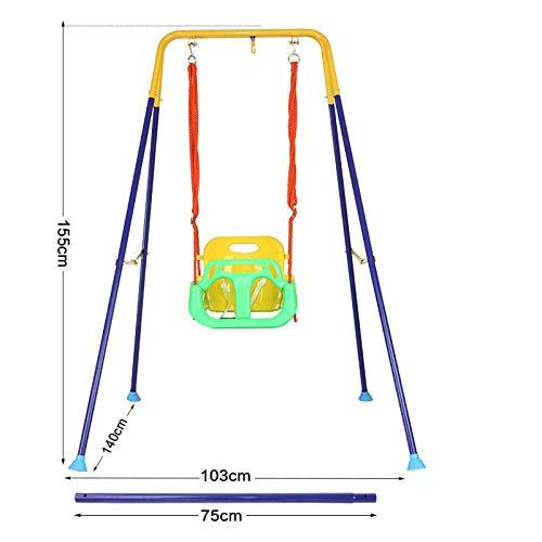 ZCXBHD 3-in-1 schommel voor kinderen en jongeren, met karabijnhaak en ophangriem