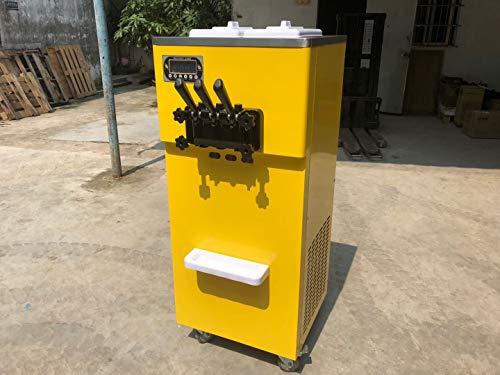 Taylor Eismaschine mit 3 Geschmacksrichtungen /2 + 1 gemischte Geschmacksrichtungen weiche Eismaschine , Edelstahl-Schlägel, Getriebe, Panasonic-Kompressor