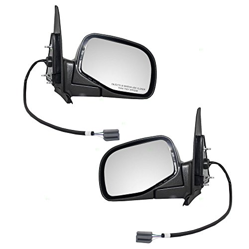Driver and Passenger Power Side View Mirrors Replacement for Ford Mazda Pickup Truck ZZM5-69-180 ZZM5-69-120