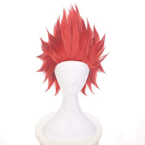 Anime Eijiro Kirishima Cosplay Wig for My Hero Academia with Free Wig Cap