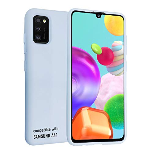 smartect Cover in Silicone per Samsung Galaxy A41 - Aderenza Perfetta - Superficie Morbida Antiscivolo - Linee Interne Morbide - Case Silicone Blu Chiaro