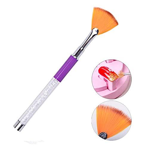 Gaetooely pinceau a ongles, pinceau pour enlever la poussiere de diamant ongle Art/maquillage cosmetique pour les joues (# 1)