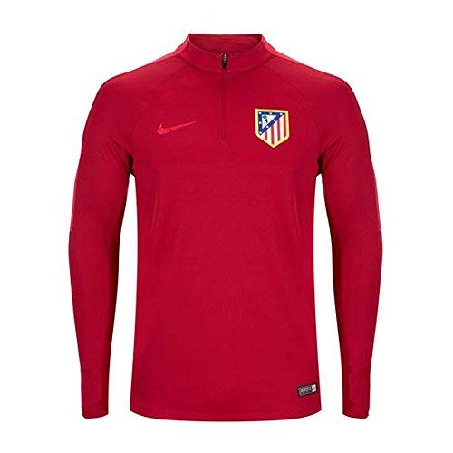 NIKE Atlético de Madrid M Dril Top Sqd Camiseta de Manga Larga, Hombre, Rojo (Noble Red/Fuchsia Flux/Fuchsia Flux), 2XL
