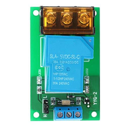 Módulo de relé de un canal, interruptor de relé YYG-2 con disparador de nivel alto bajo de aislamiento DC por 5V/12V/24V(5VDC)