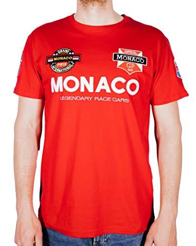 GP Legend - Camiseta oficial oficial con licencia para hombre, manga corta, calidad superior, 100 % algodón, bordado y aplicaciones rojo XL