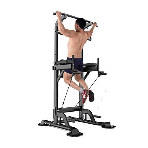 Einstellbare Power Tower Trainingsgeräte Dip Station Pull Up Bar Krafttraining Multifunktion Push Up Workout Fitness Stand Für Das Heim-Fitnessstudio
