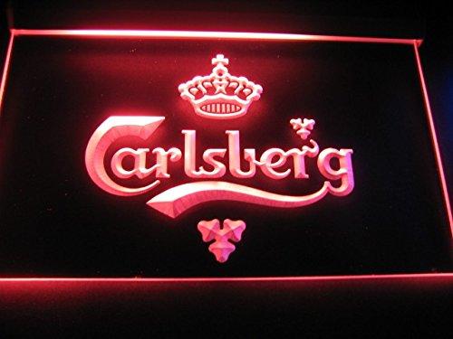 Carlsberg LED Caracteres Publicidad Neon Cartel Rojo
