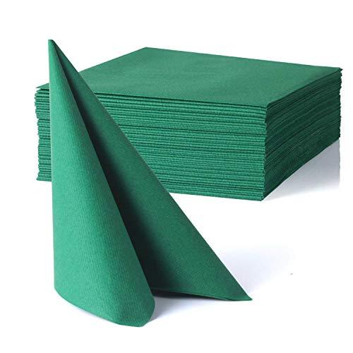 MORGIANA Servilletas Airlaid verdes, servilletas decorativas de tela, servilletas desechables ecológicas para...