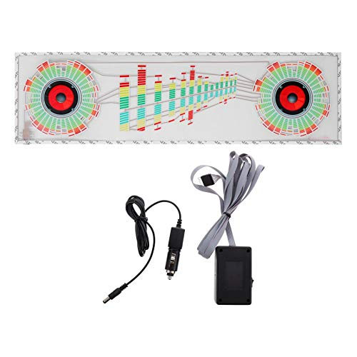 Garneck Auto Music Rhythm Lamp Sound Voice Beat Glow LED Light Car Activated Equalizer Stickers Auto Ambient Lighting for Car Truck 90X25CM