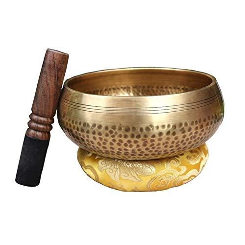 Cuenco para cantar Master Healing, cuencos tibetanos para meditación, cuencos con sonido de bronce para oración, yoga, reiki, curación, relajación, atención plena, diseño de mantra bellamente hecho, d