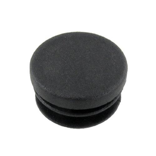 uxcell 10pcs Bouchon Pied de Chasie Table Meuble Embout Bouchou Tuyau Insert Tube Capuchon Pied de Meuble 25 mm diamètre Noir
