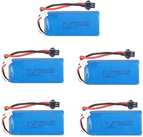 Batteria al Litio Ricaricabile da 7,4 V 1200 mAh per H26 H26C H26W H26D H26HW RC Elicottero Giocattolo Quadcopter Drone Pezzi di ricambio-5b