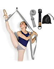Bensträckningsband på dörren – bli mer flexibel – balettyoga pilates flexibilitet tränare för att förbättra bensträckning – perfekt hembärbar utrustning för dans gymnastik träning taekwondo & MMA