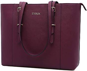 Zysun Large Capacity Lightweight Laptop Tote Bag for Women