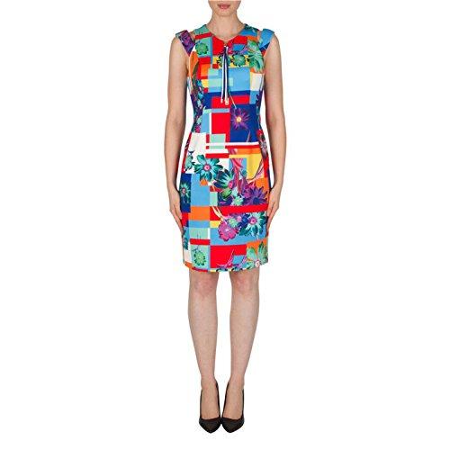 Joseph Ribkoff Damen Kleid Bleu/multi Gr. 40