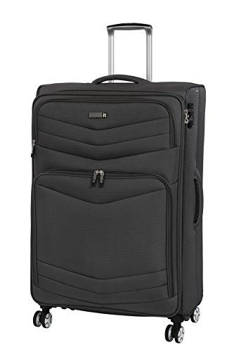 it luggage Intrepid 8 Wheel Lightweight Semi Expander Medium with TSA Lock Suitcase, 68 cm, 93 L, Dark Gull Grey