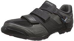 Shimano Adult Cycling Shoes MTB Cycling Shoes Wide SPD Velcro / Ratchet, black, 42EU