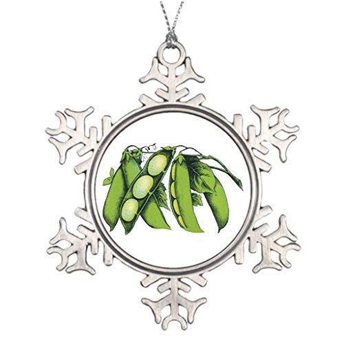 Maggie Christmas Snowflake Ornament Tree Branch Decoration Farmers Market Vintage Vegetables; Lima Beans Organic Farm Foods Christmas Snowflake Ornament Ideas