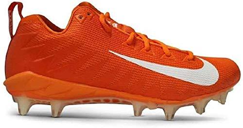 Nike Alpha Menace Pro Mid TD Promo Football Cleats (Size 15, Orange/White)