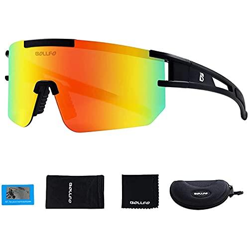 NFSQSR Gafas de Sol Pit-Viper para Hombres y Mujeres, Gafas de Ciclismo, Gafas de Sol de Moda Uv-400 TR90, Gafas de Seguridad polarizadas, Montura superligera-B