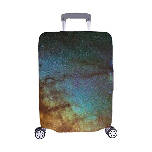 Picture Milkyway Galaxy Around Scorpius Area Spandex Trolley Case Travel Luggage Protector Suitcase Cover 28.5 X 20.5 Inch