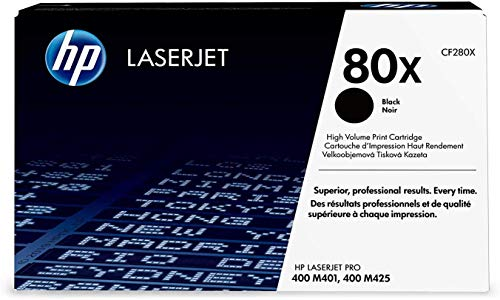 Dynamite Market for HP 80X (CF280XD) Works with HP Laserjet Pro 400 Printer M401 Series, M425dn High Yield Black Original Toner, 2 Cartridges