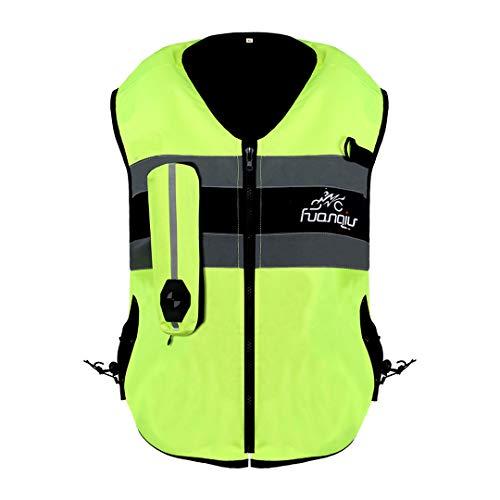 Sportinents Motorrad Airbag Weste Reflektierende Motorradjacke Racing System Motocross Schutz Airbag schwarz fluoreszierend Green Air Bag Vest 2 M