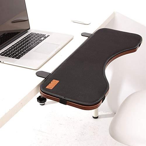 JIEKES Bandeja del Teclado Teclado bandeja ergonomía turística Extender debajo del escritorio y la pinza en alfombrilla de ratón, ajuste de altura y ergonómico Permanente del ordenador del teclado del