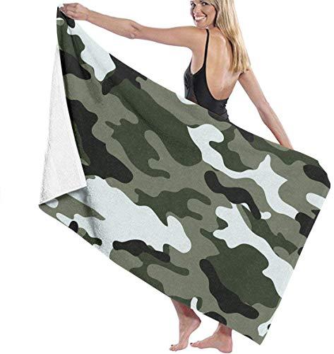 Ewtretr Toalla de Playa Camouflage Super Absorbent Bath Towel Hand Towels for Bathroom Hotel Home Ideas Decoration