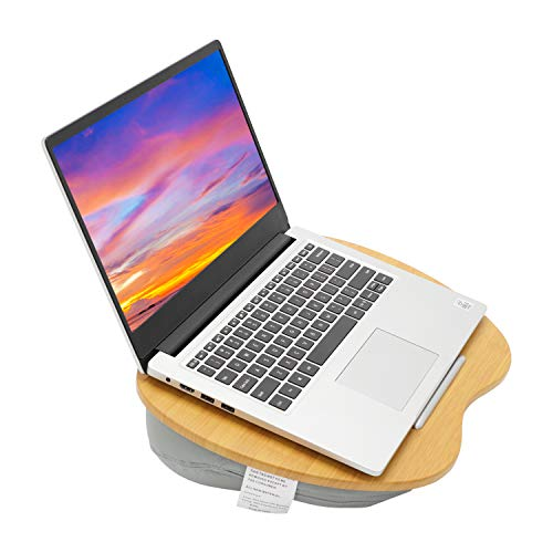 AllRight 15.6 inch Lap Desk with Cushion Laptop Tray with Cushion X-Large Laptop Stand with Pillow Cushion Slim Laptop with Anti-Slip Strips & Carry Handle Ideal on Bed & Sofa Couch or Travel