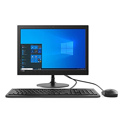 "Lenovo IdeaCentre AIO 330 19.5"" All-in-One Desktop (Intel Pentium Silver J5040 Quad Core – 2GHz Base Speed/4GB/1TB HDD/Windows 10/MS Office 2019/Intel UHD Graphics/HD 720p Camera), Black (F0D7008NIN)"