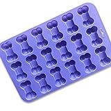 Ndier Moldes de silicona para tartas de 18 cavidades 3D en forma de hueso para fondant, herramientas...