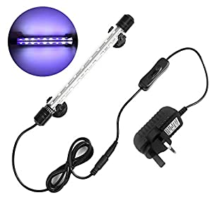 NO.17 Submersible LED Light for Fish Tank, Newest 240° Angle Underwater LED Aquarium Light, 5050 SMD 18 LED...
