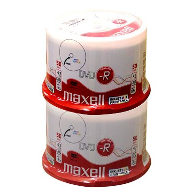 Maxell DVD-R 4.7 GB full printable 16x - 100 Stück in Cakebox
