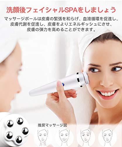 MIQA洗顔ブラシ電動音波洗顔防水ボディブラシ毛穴ケア360度回転ブラシェイスマッサージ洗顔器3段階スピード小型軽量男女兼用日本語取扱説明書付き【一年保証期間】