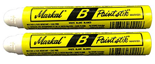 Two Markal B White Paintstik Tire Chalk Paint Stick Crayon Surface Markers Graffiti Art