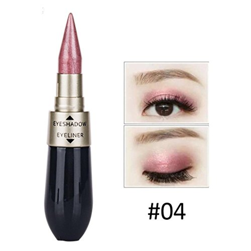 DZT1968 Portable 9g Double-end Waterproof Liquid EyeShadow Eyeliner Combination Easy To Wear Makeup (D)