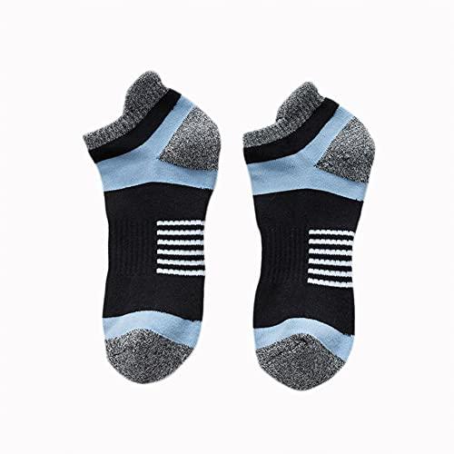 GCHBST Calcetines Tobilleros Trainer Hombre 5 Pares Calcetines Cortos Deportivos de Corte bajo Algodón Transpirable,Negro,One Size