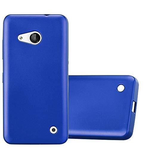Cadorabo Hülle für Nokia Lumia 550 in METALLIC BLAU - Handyhülle aus flexiblem TPU Silikon - Silikonhülle Schutzhülle Ultra Slim Soft Back Cover Hülle Bumper